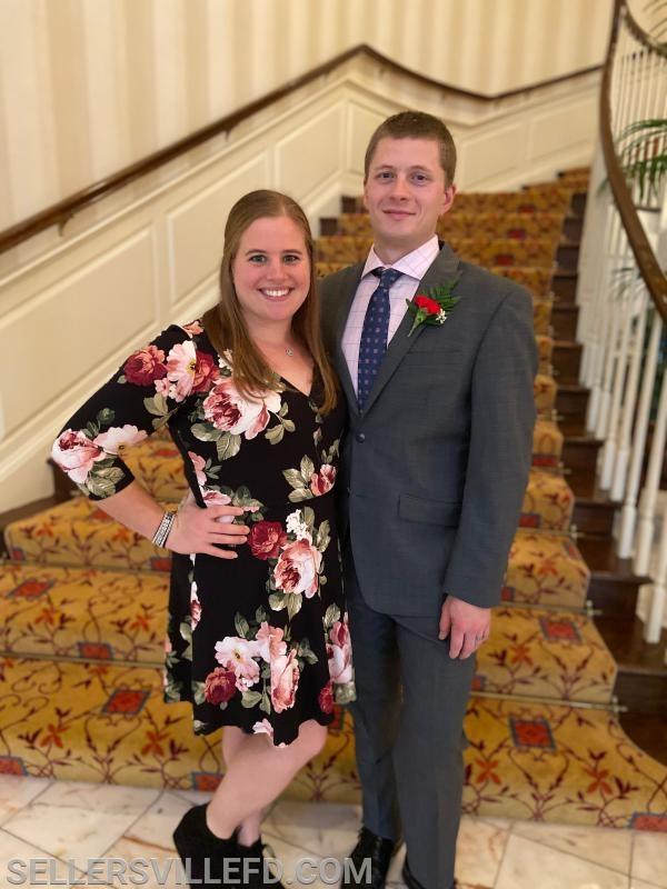 Captain Dillon Valentine and his wife Alicia.