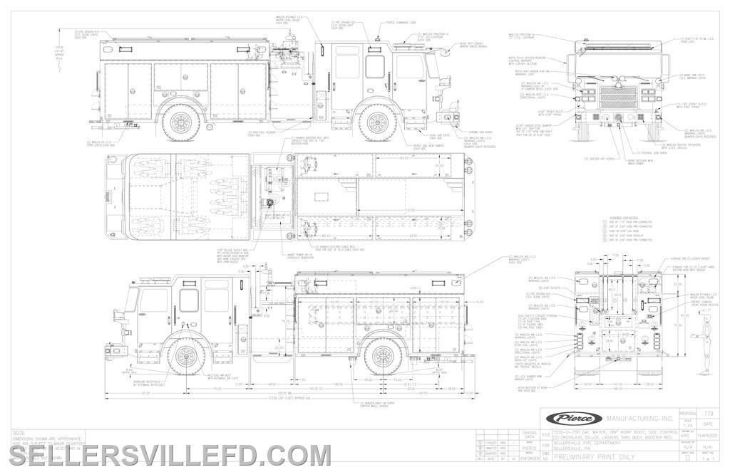 Preliminary prints for Engine 27-1 replacement.