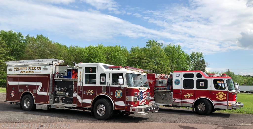 Squad 75 (Telford) and Engine 27-1.
